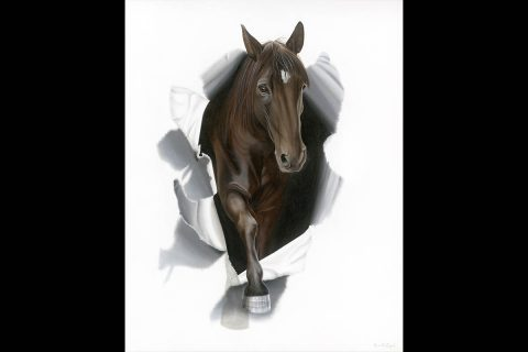 Camille Engel - Tennessee Walking Horse Oil Painting Steppin Out