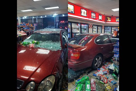 According to Clarksville Police, a Lexus crashed into a business on Ashland City Road Sunday night.
