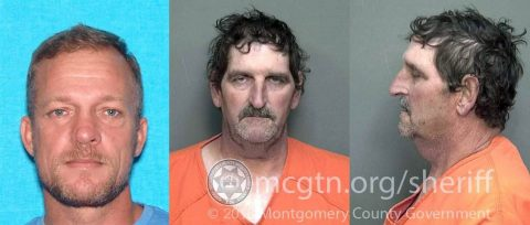 Montgomery County Sheriff's Office is looking for (L) Gary Scott and (R) Kenneth Griffy for stealing money from the Woodlawn Little League.