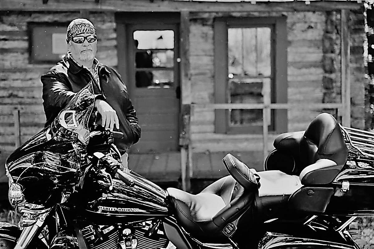 Hank and his motorcycle.