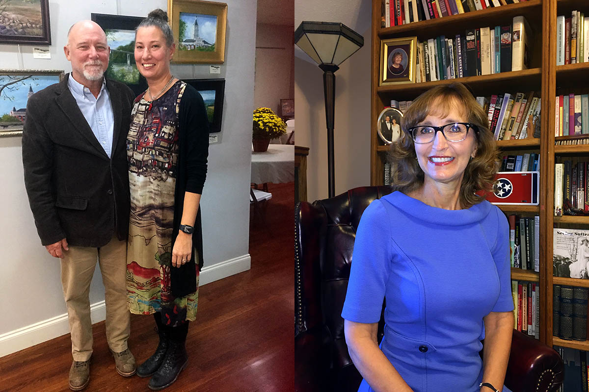 (L) Ken and Melody Shipley and (R) Dr. Minoa Uffelman to be honored Tuesday be the Clarksville-Montgomery County Arts and Heritage Development Council.