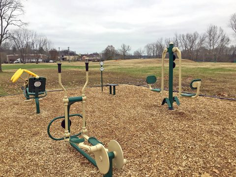 Clarksville Academy, Health Foundation partner with City of Clarksville on outdoor fitness center at McGregor Park. (Clarksville Parks and Recreation)