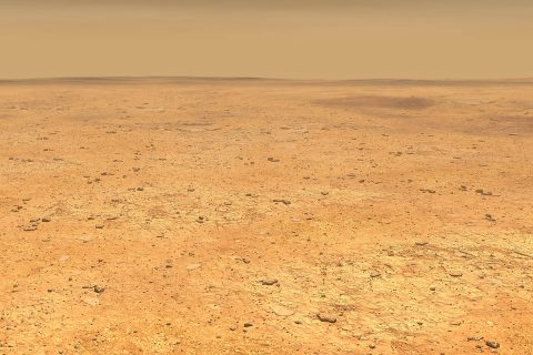 This artist's concept depicts the smooth, flat ground that dominates InSight's landing ellipse in the Elysium Planitia region of Mars. (NASA/JPL-Caltech)