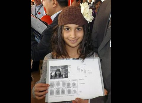 A Child with her Bio Documents.
