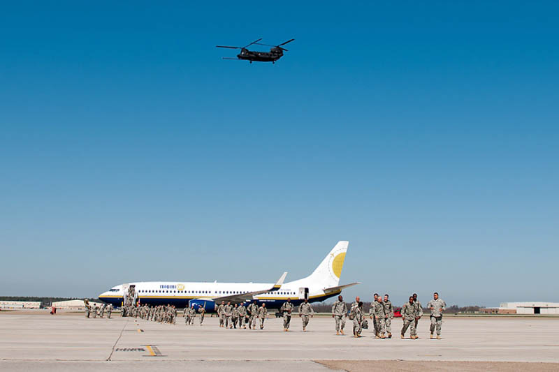 Over 200 101st Airborne Division Headquarters and Headquarters Battalion solders to return to Fort Campbell from Afghanistan.