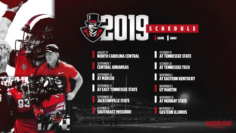 APSU Football 2019 Schedule