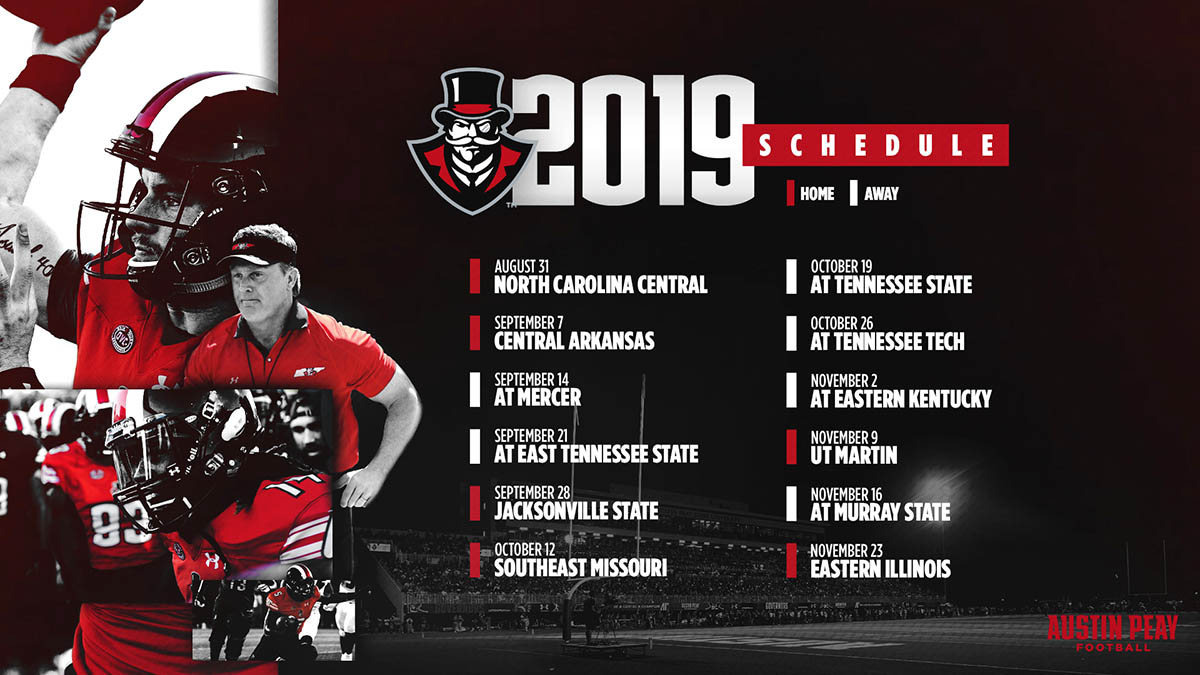 APSU Football 2019 Schedule