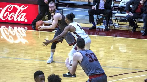 Austin Peay Men's Basketball battled Alabama A&M for a 73-61 win Saturday night. (APSU Sports Information)