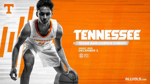 #6 Tennessee Men's Basketball plays Texas A&M-Corpus Christi at Thompson-Boling Arena late Sunday morning. (UT Athletics)