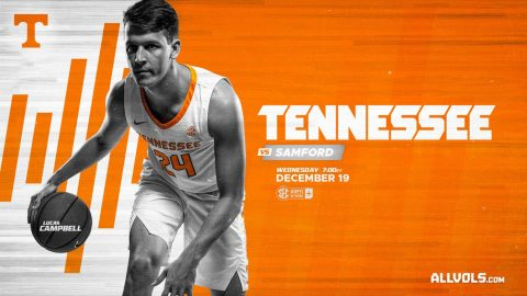 Tennessee Men's Basketball takes on Samford this Wednesday at Thompson-Boling Area. (UT Athletics)