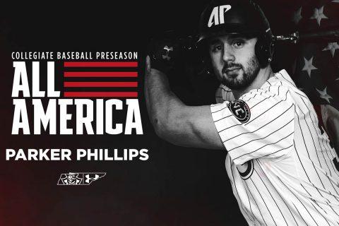 Austin Peay Baseball junior Parker Phillips named First Team Preseason All-American. (APSU Sports Information)