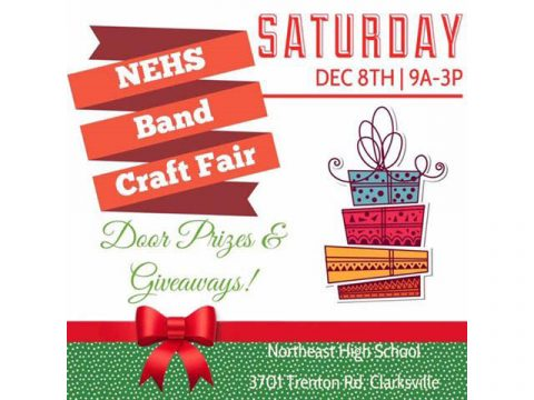 5th Annual Northeast High School Band Craft Fair to be held Saturday, December 8th