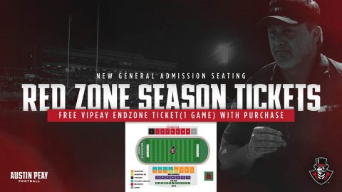 Austin Peay State University Football Red Zone Season Tickets. (APSU Sports Information)