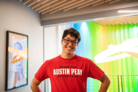 Austin Peay State University art student Jeremy Vega.