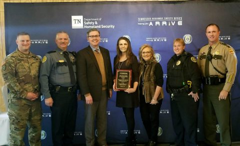 Clarksville-Montgomery County Traffic Safety Task Force was recognized by the Tennessee Highway Safety Office