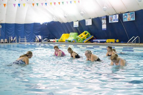 Aqua Cycling and Infant Swimming Resource Self-Rescue classes to be held at Clarksville Parks and Recreation's New Providence Pool.