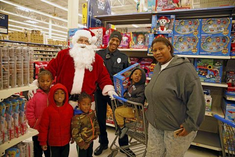 Kids Shopping with Cops event was held Saturday, December 8th at the Sango Walmart. (Jim Knoll, Clarksville Police Department)