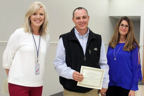 Montgomery County Soil Conservation District together with the Kiwanis Clubs of Clarksville, recently hosted their Annual Conservation Awards at which Danny Boner, Montgomery Central High School agriculture teacher, received the 2018 Agriculture Educator Award.