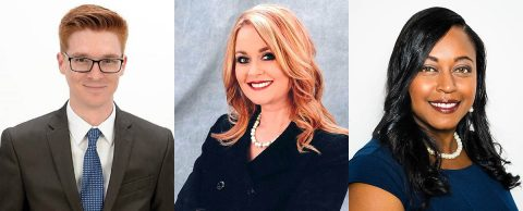 (L to R) Derek Dobbs, Brittney Doyle and Chastity Hyde promoted by First Tennessee Bank.