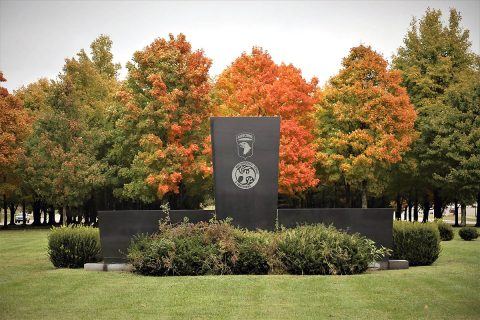 A grove of 256 Canadian Sugar Maple trees at the Gander Memorial on Fort Campbell, Kentucky. The 256 trees represent 248 101st Airborne Division Soldiers and eight civilians, who were killed in a 1985 airplane accident in Gander, Newfoundland. The trees, donated by Canadian citizens, have grown too close together and a new memorial is being constructed on Fort Campbell. (U.S. Army photos by Maj. Kevin Andersen)