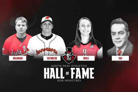 Greg Bachman, Matt Reynolds, Nikki Doyle, Hendricks Fox to be inducted into Austin Peay Athletic Hall of Fame. (APSU Sports Information)