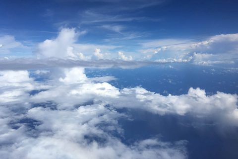 Clouds over American Samoa from NASA's Atmospheric Tomography mission in 2016.