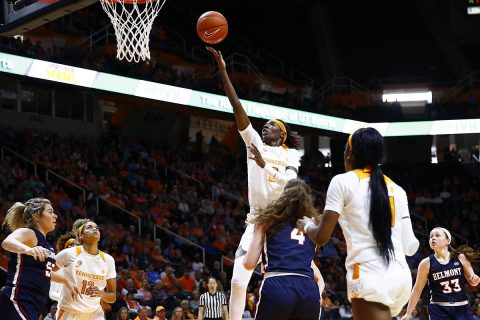 Tennessee Women's Basketball gets 84-76 win over Belmont at Thompson-Boling Arena, Sunday. (UT Athletics)