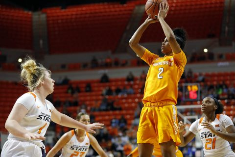 Tennessee Women's Basketball sophomore Evina Westbrook had a career high 29 points in Lady Vols 76-63 victory against Oklahoma State, Sunday. (UT Athletics)