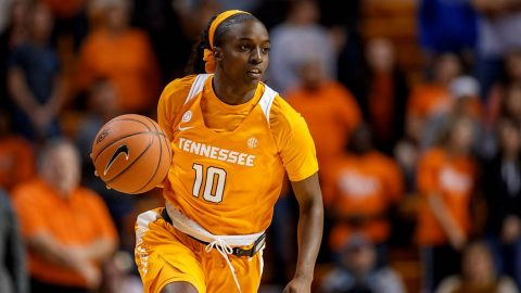Tennessee Women's Basketball senior Meme Jackson knocks down 33 points to lead the Lady Vols to 88-82 win over Texas, Sunday. (UT Athletics)