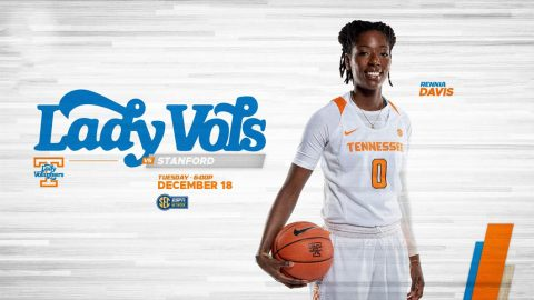 Tennessee Women's Basketball plays Standford at Thompson-Boling Arena Tuesday. Tip off is set for 5:02pm CT. (UT Athletics)