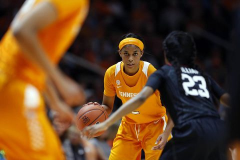 #9 Tennessee Women's Basketball falls to #8 Stanford Tuesday night at Thompson-Boling arena, 95-85. (UT Athletics)
