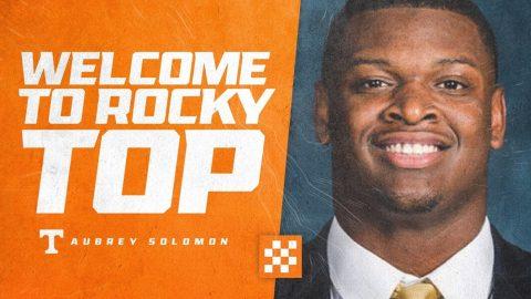 Defensive Lineman Aubrey Solomon transfers to Tennessee Football. (UT Athletics)