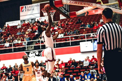 Austin Peay Men's Basketball forward Chris Porter-Bunton had 19 points in win over Morehead State at the Dunn Center, Saturday. (APSU Sports Information)