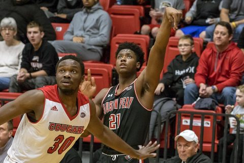 Austin Peay Men's Basketball sophomore Terry Taylor racked up 33 points in win over SIU Edwardsville Thursday night. (APSU Sports Information)