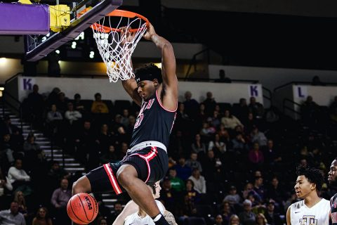 Austin Peay Men's Basketball uses defense to secure 77-66 victory at Tennessee Tech Thursday. (APSU Sports Information)