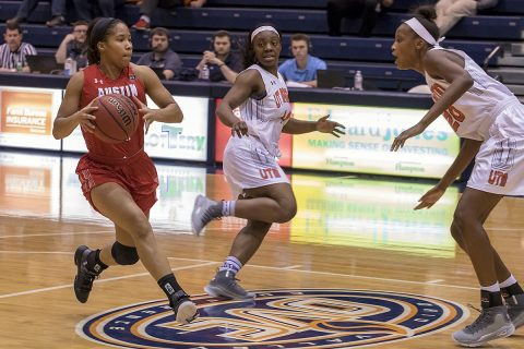 Austin Peay Women's Basketball unable to overcome slow start in 75-64 loss to UT Martin. (APSU Sports Information)