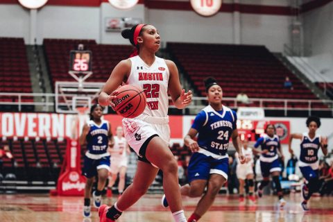 Austin Peay Women's Basketball senior Keisha Gregory scored 23 points in win over Tennessee State, Thursday. (APSU Sports Information)