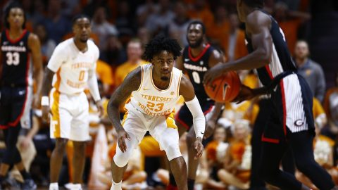 Tennessee Men's Basketball rolls over Georgia at Thompson-Boling Arena, Saturday. (UT Athletics)