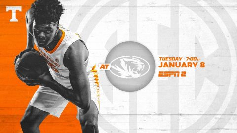 Tennessee Men's Basketball hits the road to take on the Missouri Tigers at Mizzou Arena, Tuesday night. (UT Athletics)