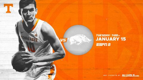 Tennessee Men's Basketball plays Arkansas this Tuesday at Thompson-Boling Area. (UT Athletics)
