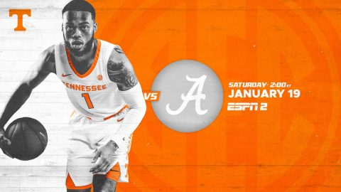 Tennessee Men's Basketball looks to keep win streak alive Saturday when they host Alabama. (UT Athletics)