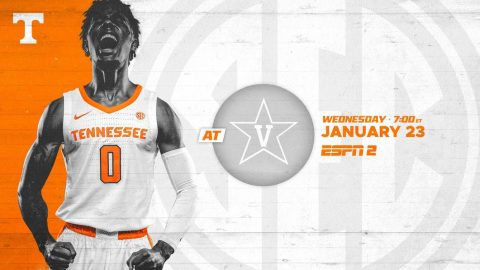 Tennessee Men's Basketball travels to Vanderbilt for Wednesday night matchup. (UT Athletics)