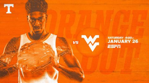Tennessee Men's Basketball hosts West Virginia Saturday. (UT Athletics)