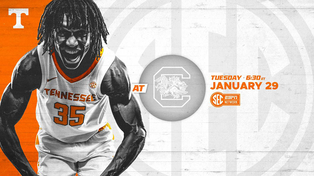 Tennessee Men's Basketball travels to Columbia to take on the South Carolina Gamecocks Thursday night. (UT Athletics)
