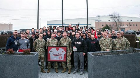 Austin Peay Baseball begins preseason preparation doing team building activities with Fort Campbell's 160th Special Operations Aviation Regiment (SOAR). (APSU Sports Information)