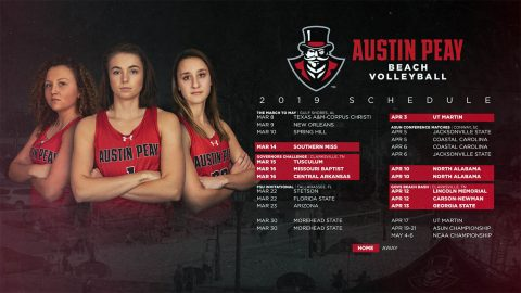 2019 Austin Peay Beach Volleyball Schedule. (APSU Athletics)