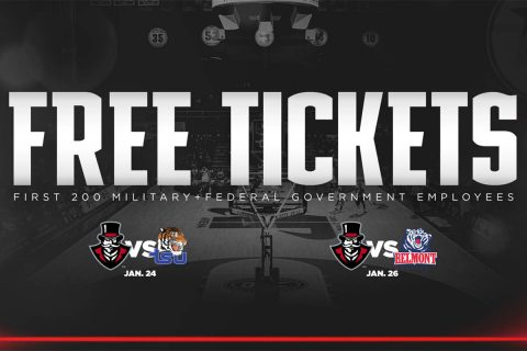 APSU is giving away Free Tickets to the First 200 Military and Federal Goverment Employess. (APSU Sports Information)
