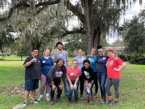 Austin Peay State University Students in New Orleans, Louisiana, working with the Audubon Nature Institute.