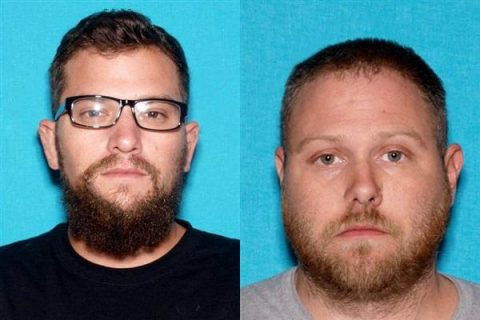 Bounty Hunters (L to R) Andrew Scott Giarratano and Charles Victor Mullins are wanted by the Montgomery County Sheriff's Office.