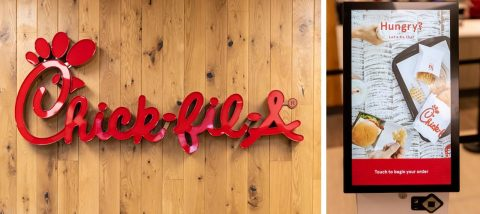 Chick-fil-A on Austin Peay State University now has several state-of-the-art digital kiosks.